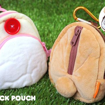 Strapya World : San- X Rilakkuma Cute Stuffed Backpack Smartphone Pouch (Rilakkuma)