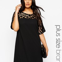 Lovedrobe Embellished Yoke Shift Dress at asos.com