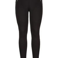 the skinny knit pant with zip pockets