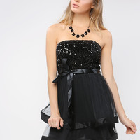 Spangle Tube Top Party Dress
