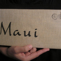 Maui Cotton Canvas Envelope Clutch Bag