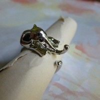 Silver Elephant Ring sz 5-6