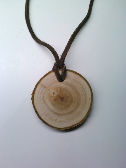 Wood pendant necklace log slice from deerwood creek gifts for How to make a wooden pendant