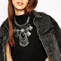 ALDO Whiffen Chain Drop Statement Collar Necklace