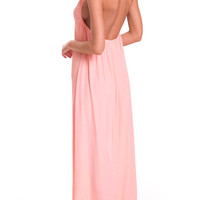 Splendour Maxi Dress in Neon Peach