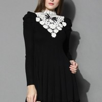 Your Precious Love Knitted Dress  Black