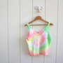 tank top . neon tie-dye crop top
