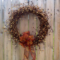 Pip Berry Wreath, Grapevine 18 inch, Fall Wreath