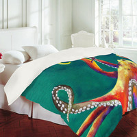 DENY Designs Home Accessories | Clara Nilles Mardi Gras Octopus Duvet Cover