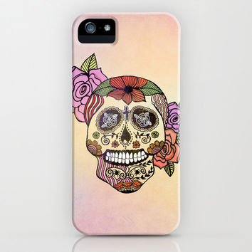 Sweet Sugar Skull iPhone & iPod Case by Sandra Arduini