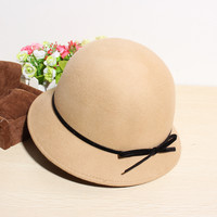 Vintage Bowknot Bowler Hat * free shipping *