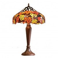 Quality Handmade Autumn Mapleleaf Tiffany Collection of Pendants Wall Lights and Table Lamps - Orange and Red