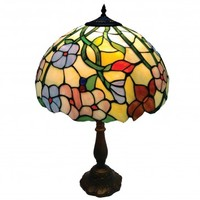 Beautiful Spring Flower Stained Glass Handmade Tiffany Collection of Pendants and Table lamps - Spring Colours