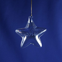 Personalized Glass Blown Star Ornament