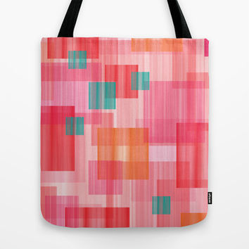 Abstract Red Tote Bag by eDrawings38 | Society6