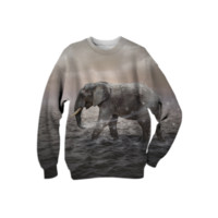 May the Stars Carry Your Sadness Away (Elephant Dreams) Unisex Sweatshirt created by soaringanchordesigns | Print All Over Me