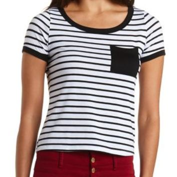 Color Block Striped Pullover Sweater by Charlotte Russe