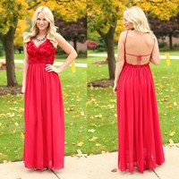 Roses Become Her Maxi in Red