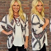 It's BACK! RubyClaire's Tribal Print Cardigan!