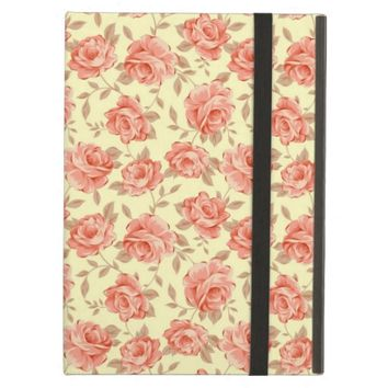 Chic Stylish Retro Pink Rose Flower iPad Air Case