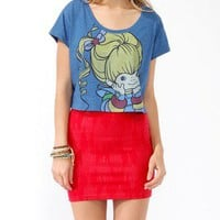 Cropped Rainbow Brite Tee
