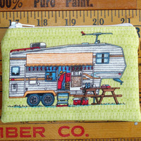 RV Camping Trailer - Fabric Zipper Pouch