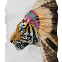 Fight For What You Love • Chief of Dreams: Tiger v.2 Mens Tank Top created by soaringanchordesigns | Print All Over Me