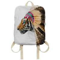 Fight For What You Love • Chief of Dreams: Tiger v.2 Backpack created by soaringanchordesigns | Print All Over Me