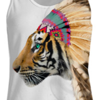 Fight For What You Love • Chief of Dreams: Tiger v.2 Womens Tank Top created by soaringanchordesigns | Print All Over Me