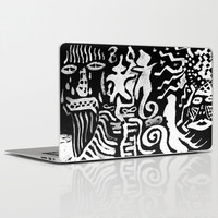 painting remix white Laptop & iPad Skin by Antoine