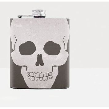 Flask  Skull  Groomsman flask Party favor Hip flask 7oz