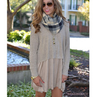Fashion Dilemma Taupe Sweater Dress
