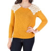 Moa Moa Juniors High-Low Top with Crochet Shoulders at Von Maur