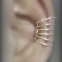 "Unique Design, 6 hoops, No piercings needed, Ear cuff "" Earlums"""