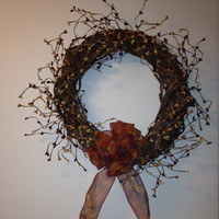 Pip Berry Wreath, Fall, Basket Woven Grapevine