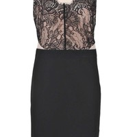 Tasha Eyelash Lace Detail Bodycon Dress