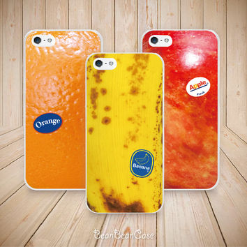 Fruits inspire case orange apple banana case for htc one and iPhone 5 5s 5c case - iPhone 4 4s case - HTC One M7 HTC One M8 2014 case (A03)