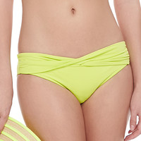 Women's Goddess Twisted Hipster Swim Bottom - Seafolly - Chartreuse