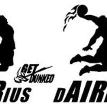 2X DARIUS, GET DUNKED! DECAL 10""