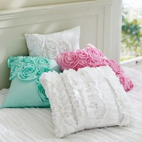 Ruffle &amp;amp; Rose Pillow Covers
