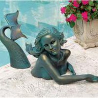 Meara, the Mermaid Sculptural Garden Swimmer - DB383047 - Design Toscano