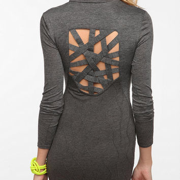 Open Back Sweater Knit Dress