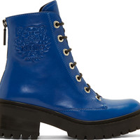 Blue Embossed Logo Morticia Boots42387F128001