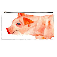 Back to School - Pencil Pouch - Pig Pencil Case - Harvey
