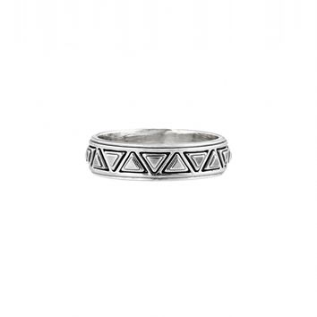 House of Harlow 1960 Jewelry Triangle Plateau Midi Ring Silver