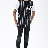 Striped Colorblock Number Tee
