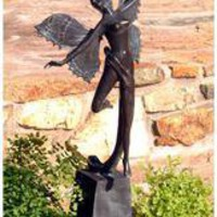 Butterfly Fairy Solid Bronze Garden Sculpture - BB39098 - Design Toscano