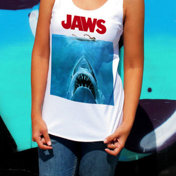 Jaws Tank Top - Thriller Action Scary Movie T Shirts,Tanks and clothes