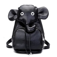 CrazyPomelo Lovely 3D Elephant PU Backpack