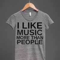 I Like Music More Than People  - Anti-Social Introverted Music Lover